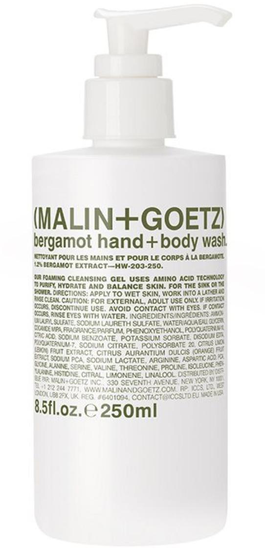 malin goetz bergamot hand wash