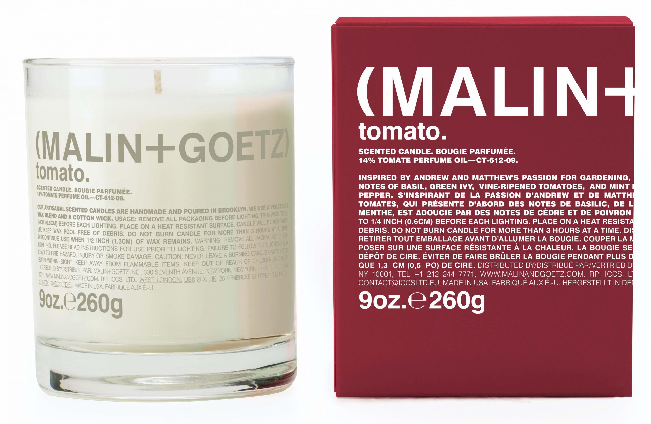 tomato garden candle malin + goetz