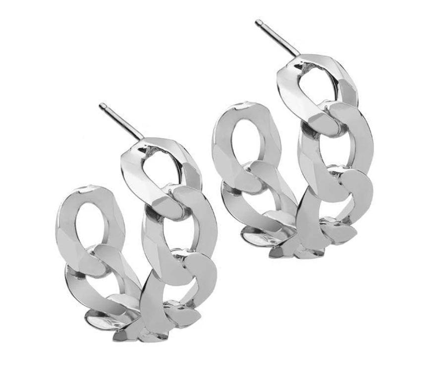 """Jennifer Zeuner Ronit 1"""" Stirling Silver Hoops, $154"""
