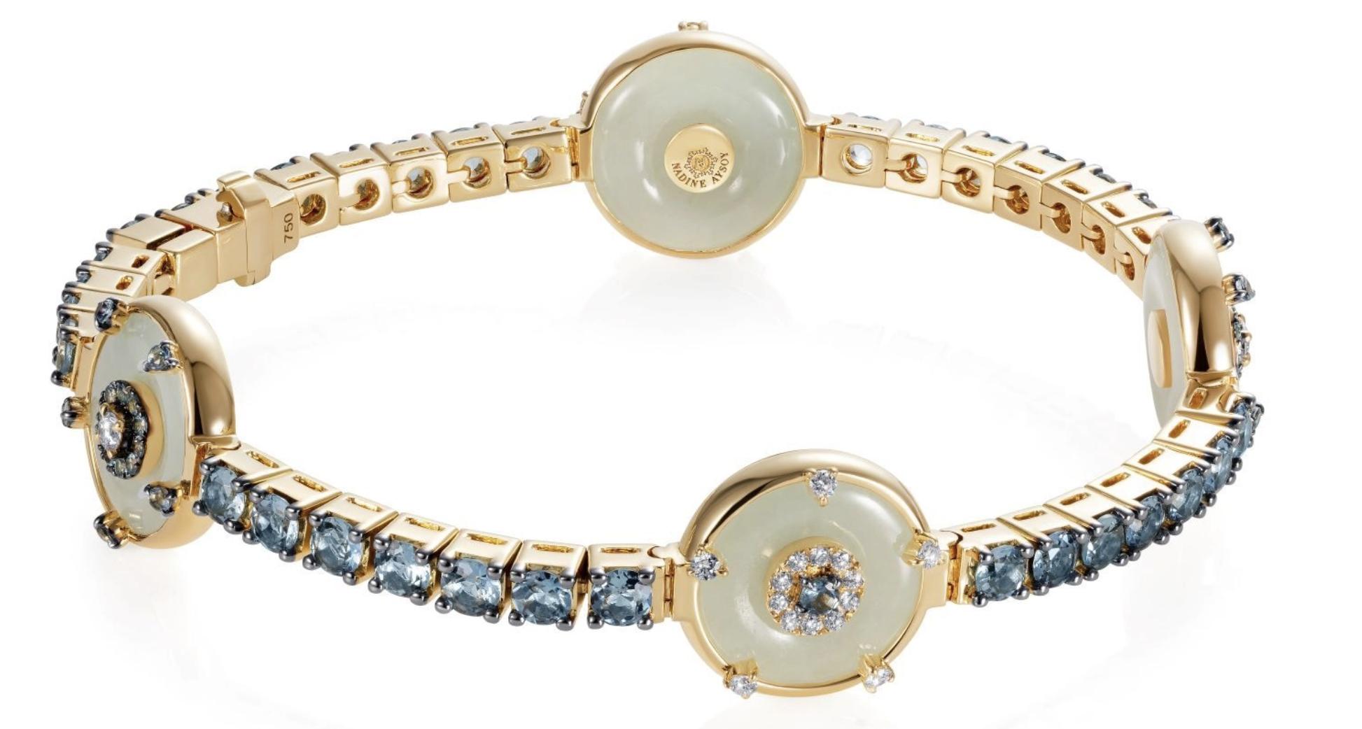 Nadine Aysoy Celeste Aquamarine & Jade Bracelet, £10,590