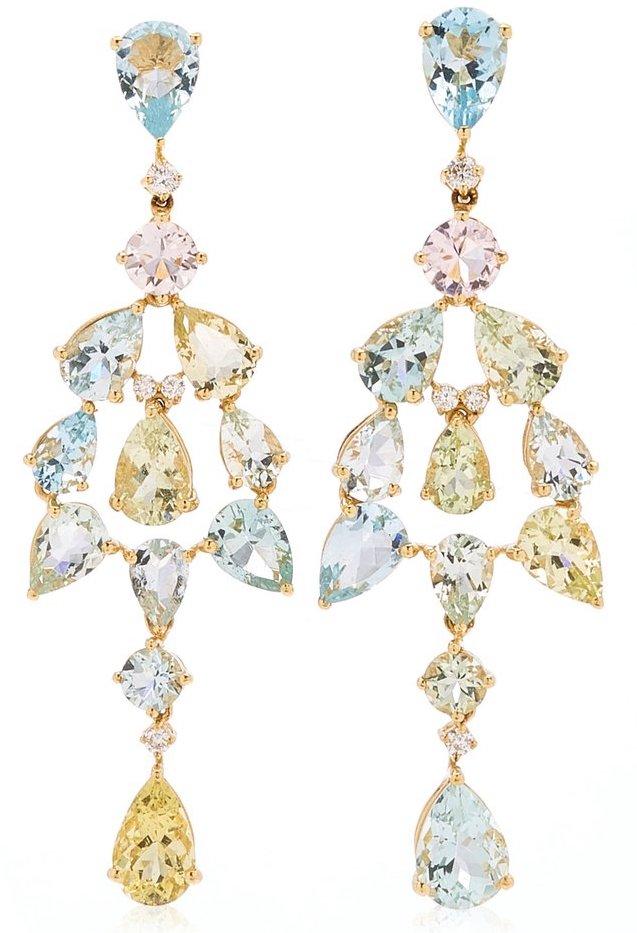 Goshwara 18K Yellow Gold Aquamarine, Diamond Earrings, £7,152