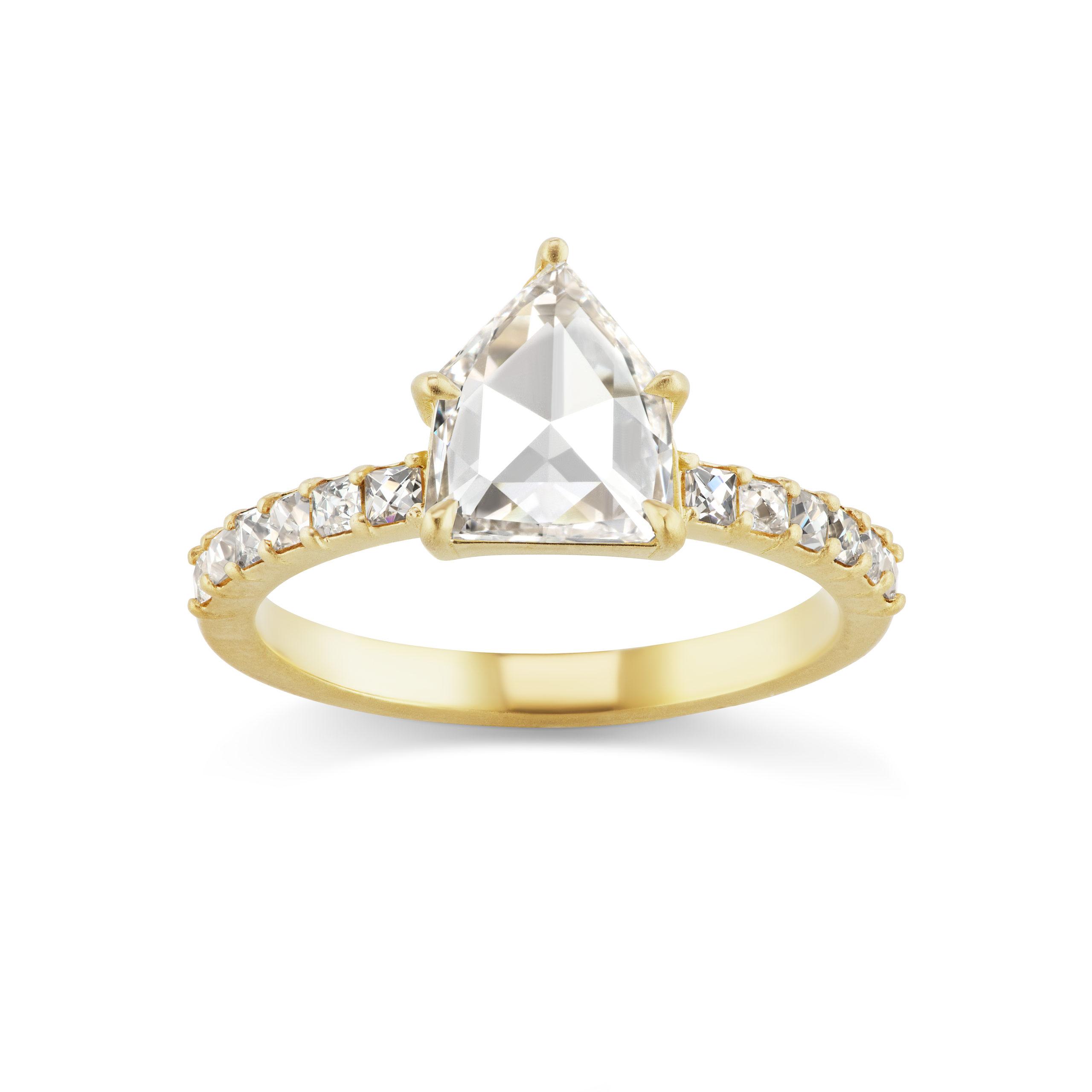 Michelle Fantaci-Rose Cut-Pentagon-Engagement-Ring