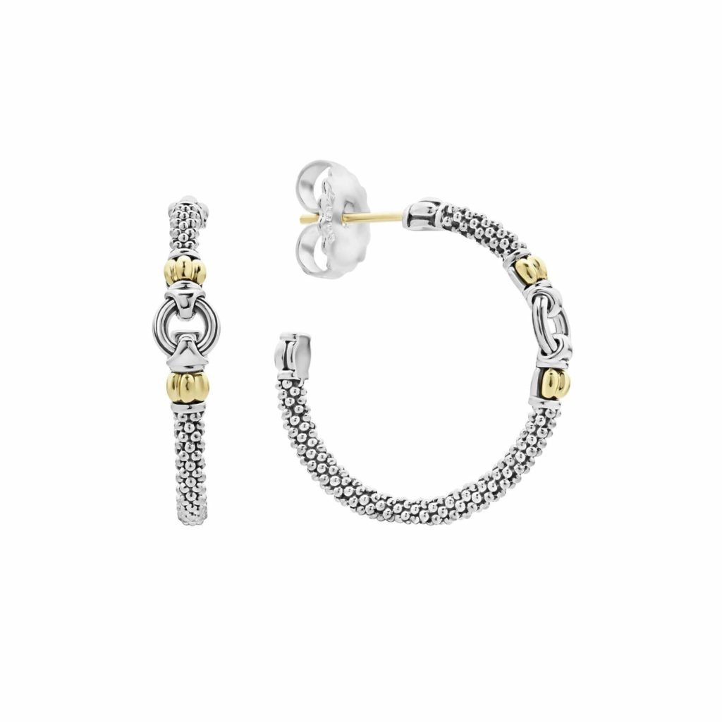 LAGOS Signature Caviar Hoop Earrings
