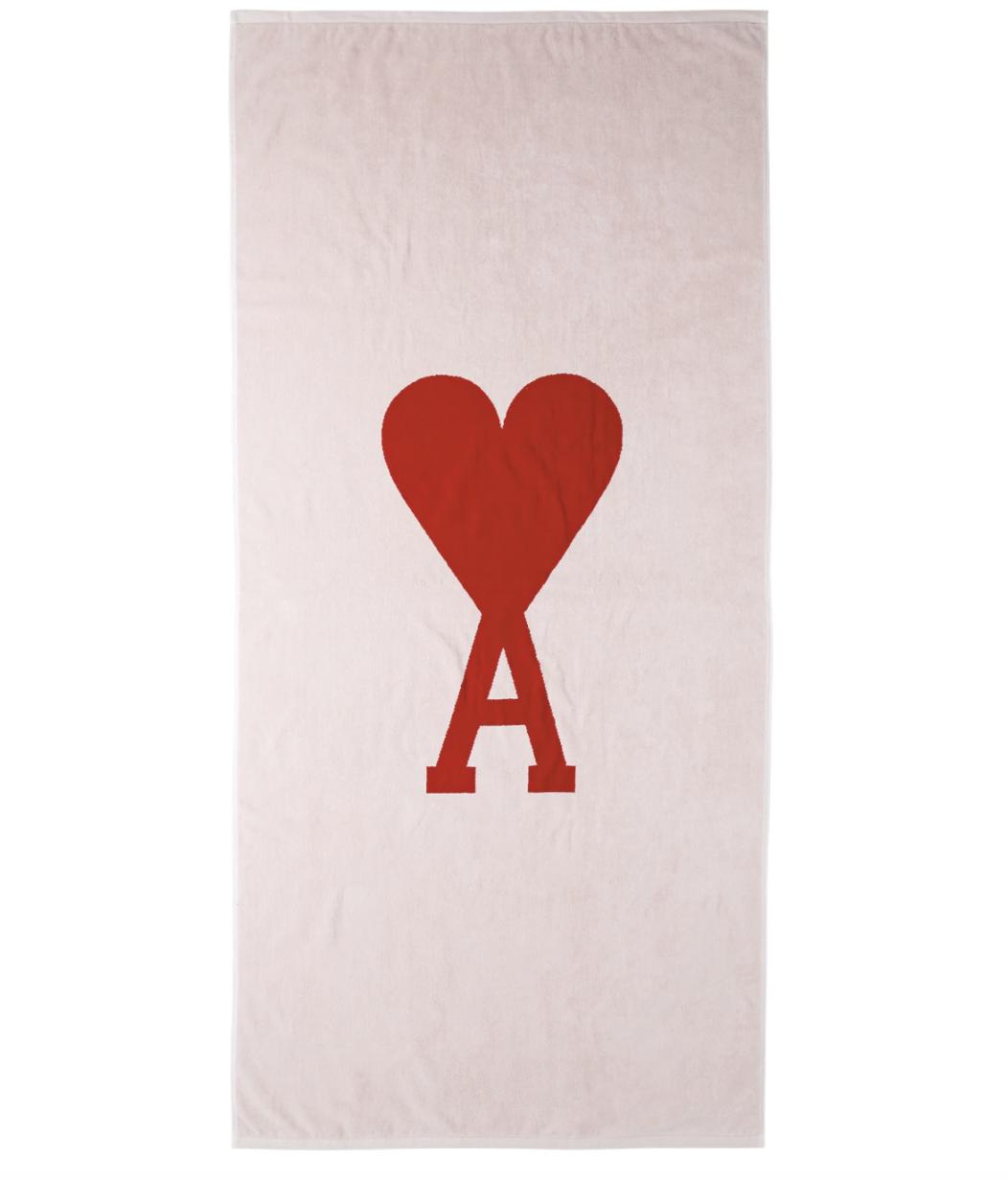 ami-alexandre-mattiussi-white-and-red-ami-de-coeur-beach-towel