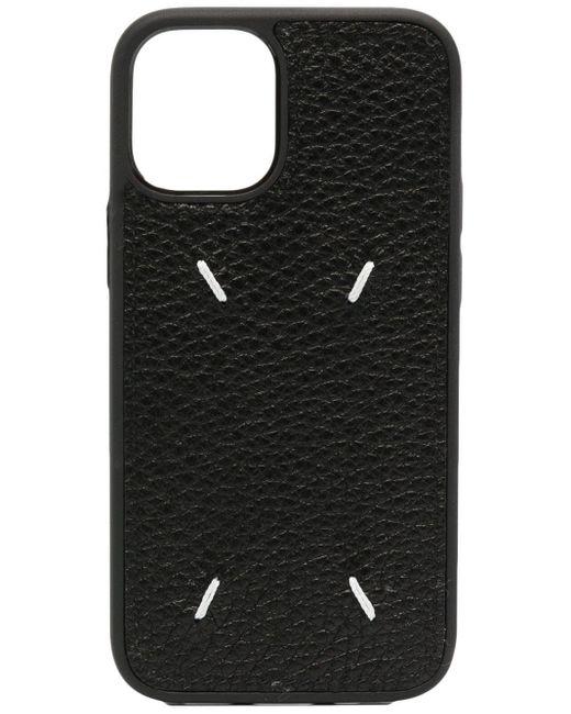 maison-martin-margiela-black-Coque-diPhone-12-a-details-de-coutures