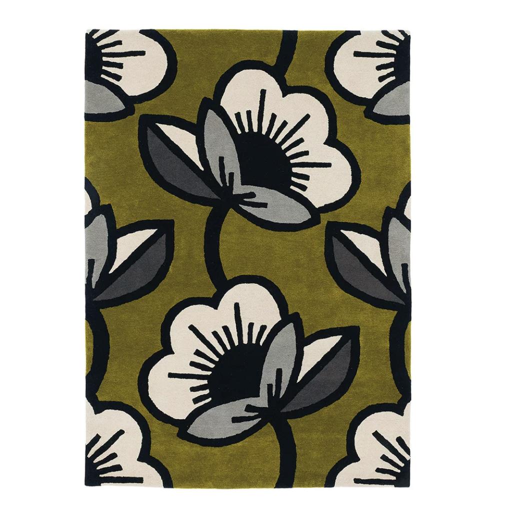Orla-kiely-passion-flower-rug-olive-amara